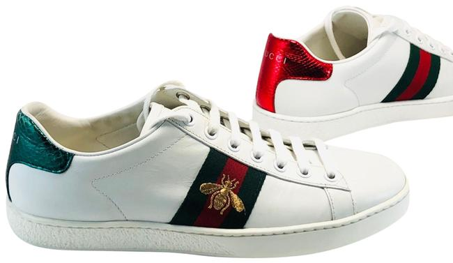 Item - White Ace Bee Leather Sneakers Size EU 38 (Approx. US 8) Regular (M, B)