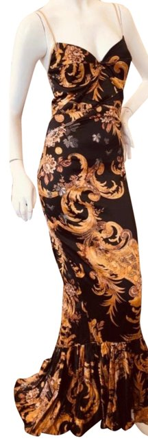 Item - Black and Gold Vintage Fishtail Mermaid Long Cocktail Dress Size 6 (S)