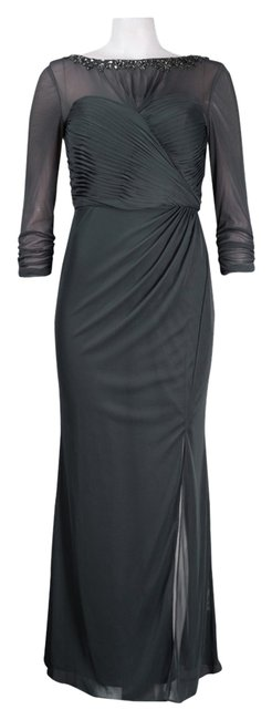 Preload https://item3.tradesy.com/images/alex-evenings-gray-jeweled-illusion-ruched-long-formal-dress-size-6-s-2900962-0-0.jpg?width=400&height=650