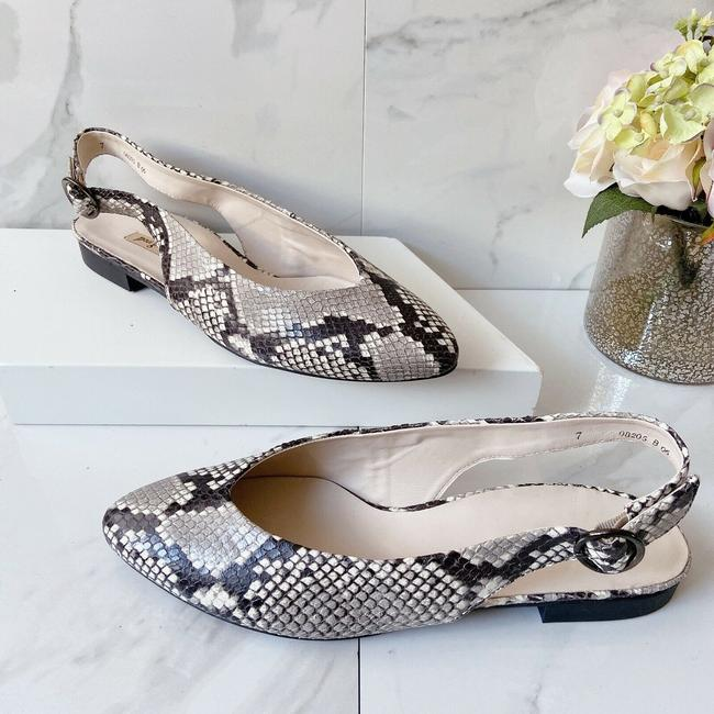 Item - Beige Black (Snake Print) Blair Women's Slingback Flats Pumps Size US 9.5 Regular (M, B)