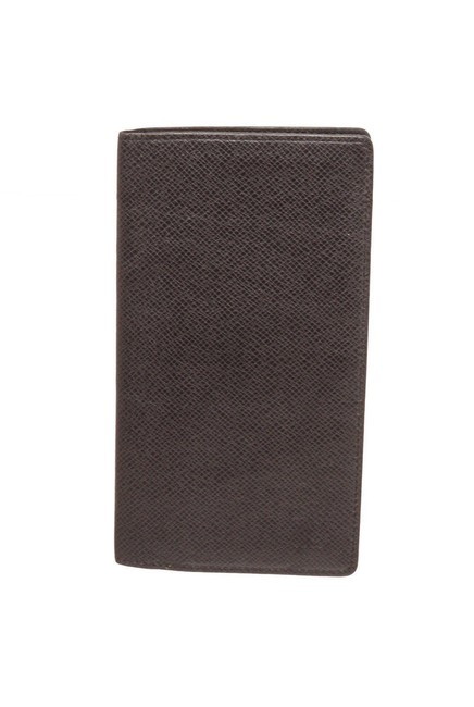 Item - Black Long Taiga Leather Wallet