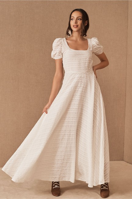 Item - Ivory Cotton Ryan Gown Bhldn Casual Wedding Dress Size 4 (S)