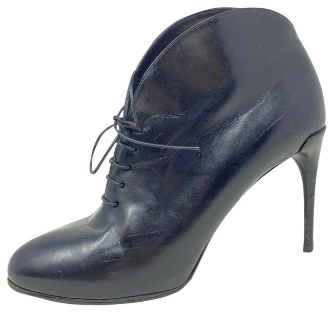 Item - Black Kim Lace Up Curved Ankle Made In Italy Boots/Booties Size EU 36 (Approx. US 6) Narrow (Aa, N)