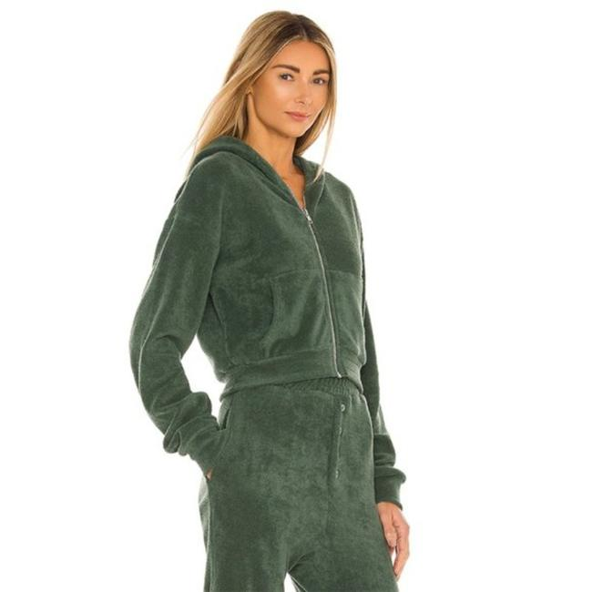 Item - Green Cropped Zip Activewear Outerwear Size 16 (XL, Plus 0x)
