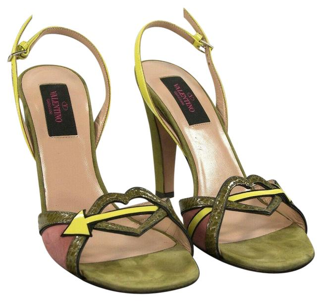 Item - Green Limited Edition Cupid Heart Army Suede Python Heels Pumps Size EU 37 (Approx. US 7) Regular (M, B)