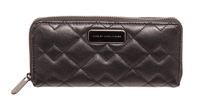 Marc by Marc Jacobs Black Zippy Quilted Leather Long Wallet Marc by Marc Jacobs Black Zippy Quilted Leather Long Wallet Image 1