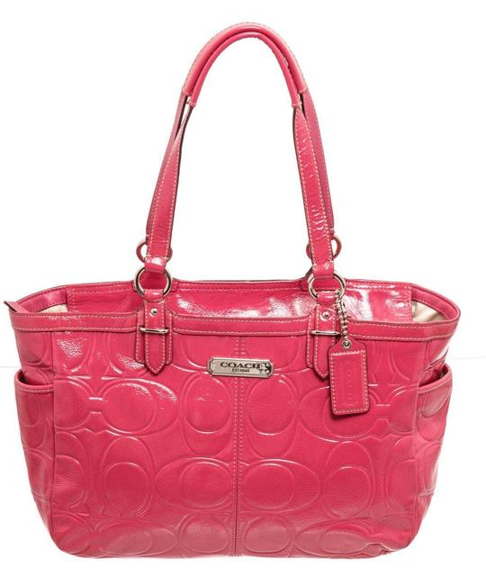Item - Medium Pink Patent Leather Shoulder Bag
