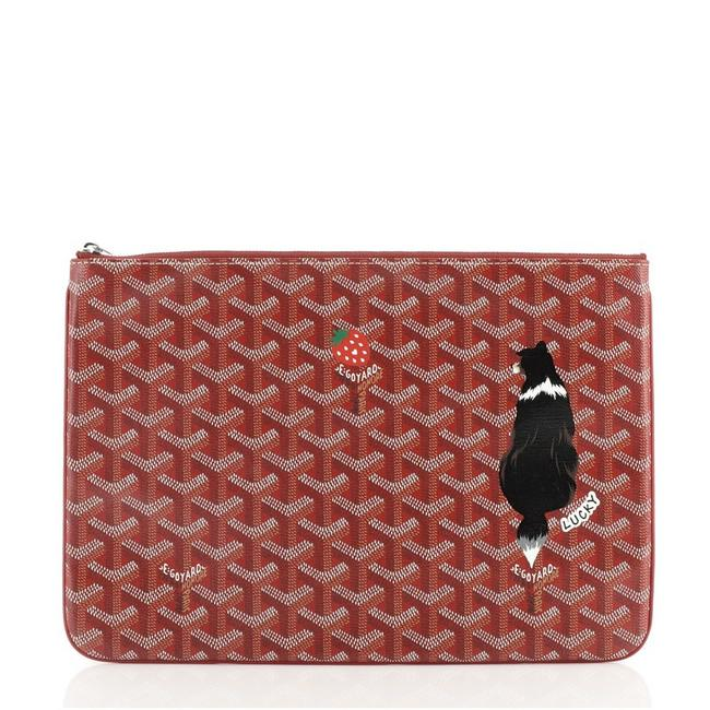 Item - Red Senat Zip Pouch Printed Coated Canvas Mm Wallet