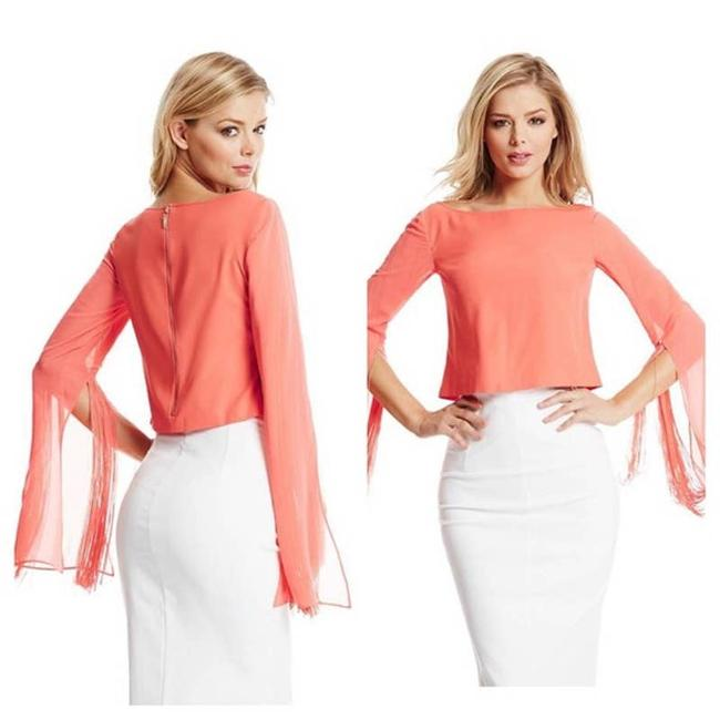 Item - Orange Alice Crop Small Coral Bell Sleeves Blouse Size 6 (S)