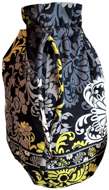 Item - Baroque Drawstring Lined Grey Cotton Backpack