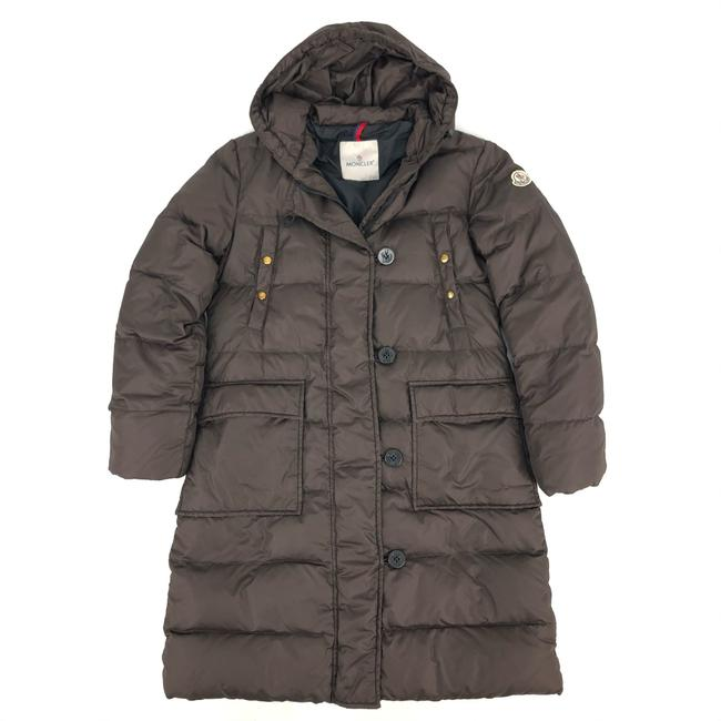 Item - Brown W Womens Polyester Puffer / Down Jacket Logo Coat Size 6 (S)