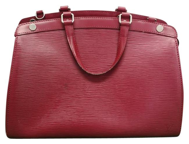 Item - Brea Mm Red Epi Leather Tote