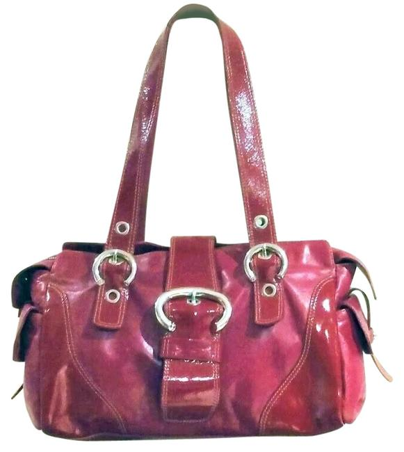 Item - Italian Distressed Red Patent Leather Satchel