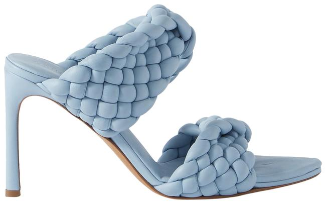 Item - Light Blue Intrecciato Quilted Leather Mules/Slides Size EU 38 (Approx. US 8) Regular (M, B)