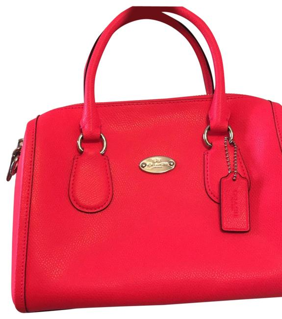 Item - Bennett Nwot Fluorescent Pink/Orange Orange Leather Satchel