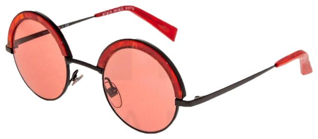 Item - Black Red 4003 Paris Retro Avantgarde A04003 Metal Round Sunglasses