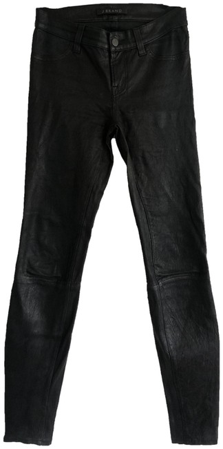 Item - Charcoal Coated Leather Skinny Jeans Size 25 (2, XS)