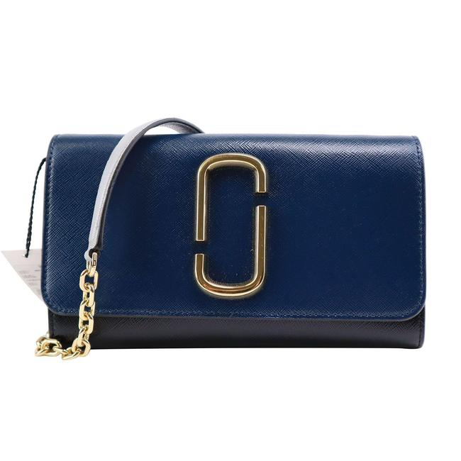 Item - Snapshot Wallet Chain Blue Leather Cross Body Bag