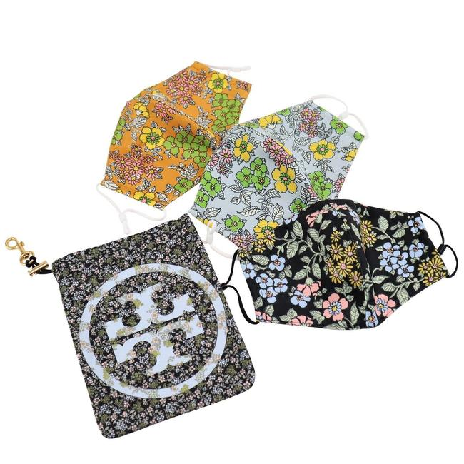 Item - Multicolor W Spring Flower Blossom Face Mask S/3 Travel Pouch