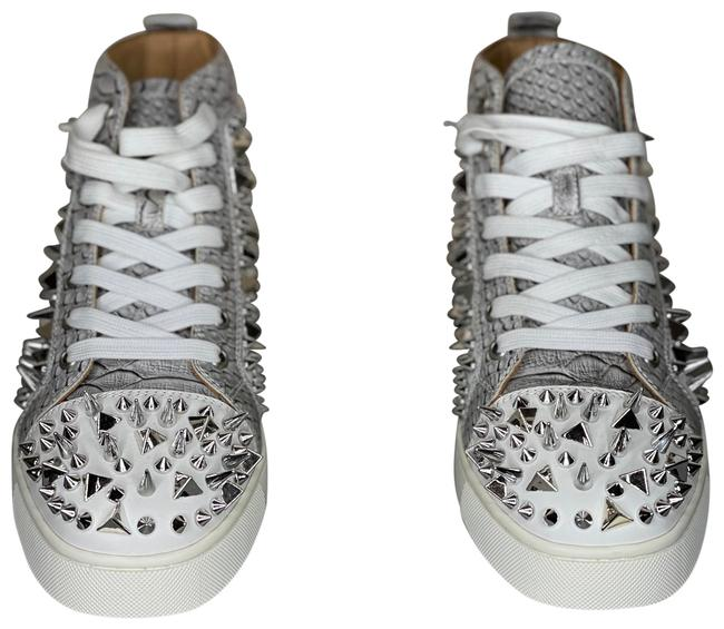 Item - Grey White Silver and Gold Spikes Sneakers Size EU 40 (Approx. US 10) Regular (M, B)