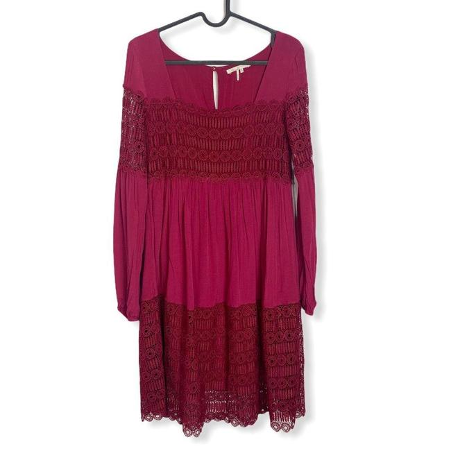 Anthropologie Red Womens Floreat Amelie Lace Mini Short Casual Dress Size 0 (XS) Anthropologie Red Womens Floreat Amelie Lace Mini Short Casual Dress Size 0 (XS) Image 2