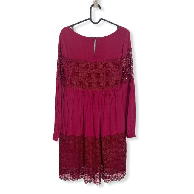 Anthropologie Red Womens Floreat Amelie Lace Mini Short Casual Dress Size 0 (XS) Anthropologie Red Womens Floreat Amelie Lace Mini Short Casual Dress Size 0 (XS) Image 5