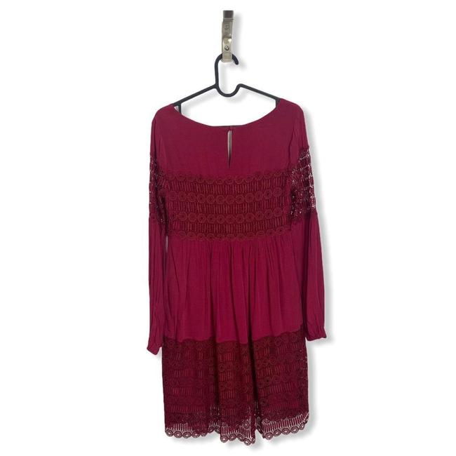 Anthropologie Red Womens Floreat Amelie Lace Mini Short Casual Dress Size 0 (XS) Anthropologie Red Womens Floreat Amelie Lace Mini Short Casual Dress Size 0 (XS) Image 7