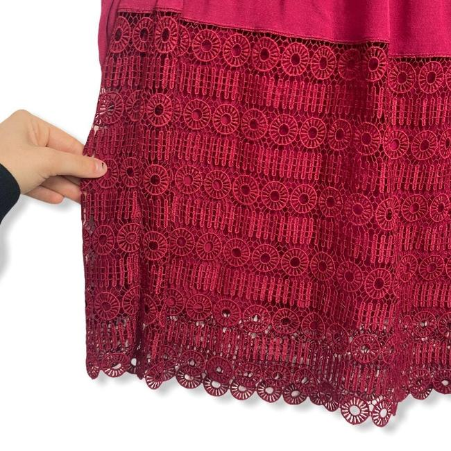 Anthropologie Red Womens Floreat Amelie Lace Mini Short Casual Dress Size 0 (XS) Anthropologie Red Womens Floreat Amelie Lace Mini Short Casual Dress Size 0 (XS) Image 8