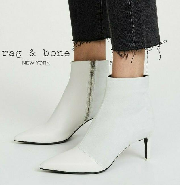 Item - White Beha Pointed Toe Ankle Boots/Booties Size US 10 Regular (M, B)