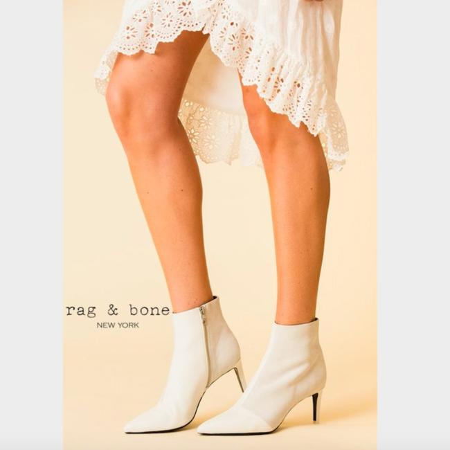 Rag & Bone White Beha Pointed Toe Ankle Boots/Booties Size US 10 Regular (M, B) Rag & Bone White Beha Pointed Toe Ankle Boots/Booties Size US 10 Regular (M, B) Image 2