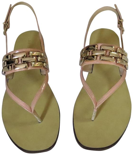 Item - Nude X2801x Chain Accented Patent Leather Sandals Size EU 39 (Approx. US 9) Regular (M, B)