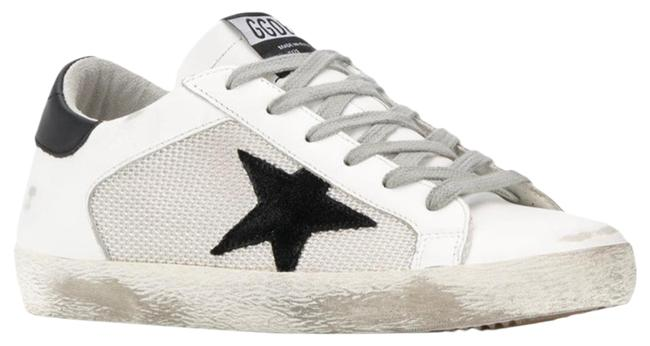 Item - White with Black Star Superstar Low-top Sneakers Size US 9 Regular (M, B)