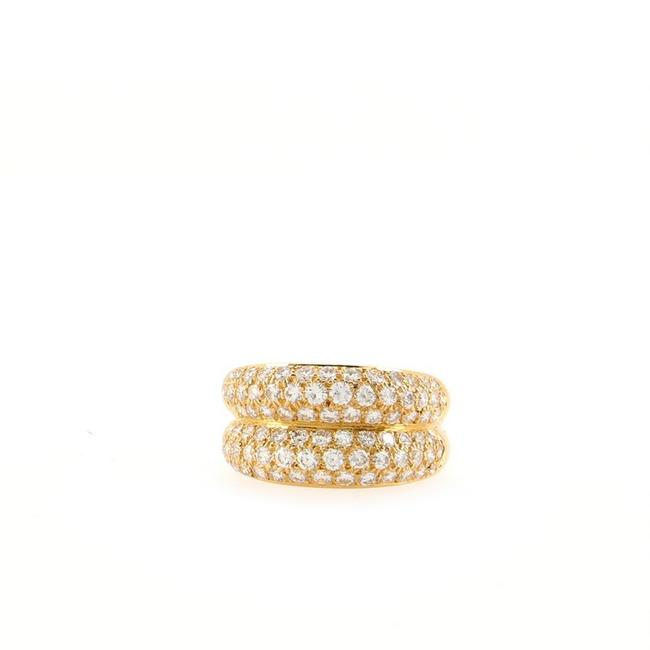 Item - 18k Yellow Gold Double Mimi and Diamonds 6.25 - 53 Ring