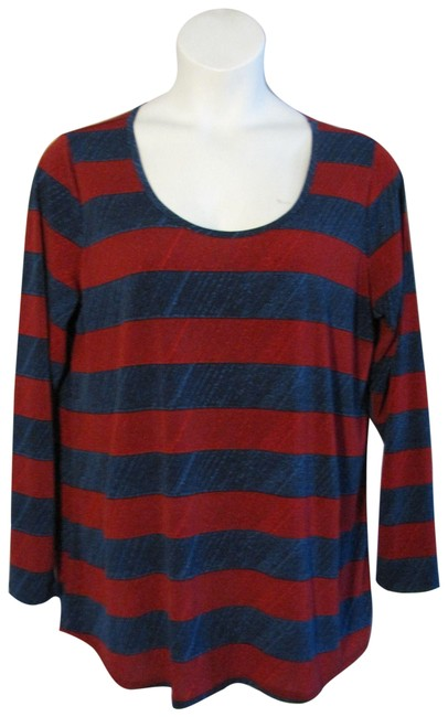 Item - Blue Stripe Lynnae Stretchy Red Sweater