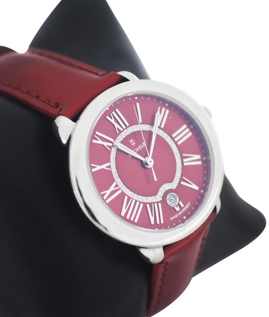 Michele Red Serein 16 Diamond Dial Stainless Steel Watch Michele Red Serein 16 Diamond Dial Stainless Steel Watch Image 1