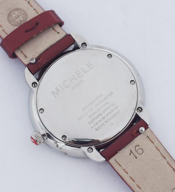 Michele Red Serein 16 Diamond Dial Stainless Steel Watch Michele Red Serein 16 Diamond Dial Stainless Steel Watch Image 4