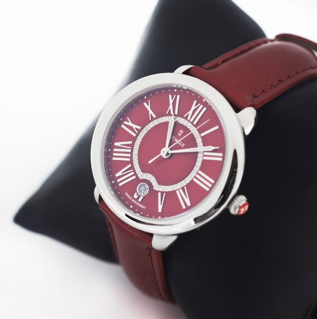Michele Red Serein 16 Diamond Dial Stainless Steel Watch Michele Red Serein 16 Diamond Dial Stainless Steel Watch Image 5