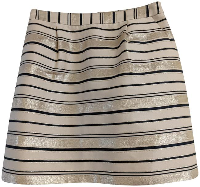 Item - Gold Navy Beige Skirt Size 00 (XXS, 24)