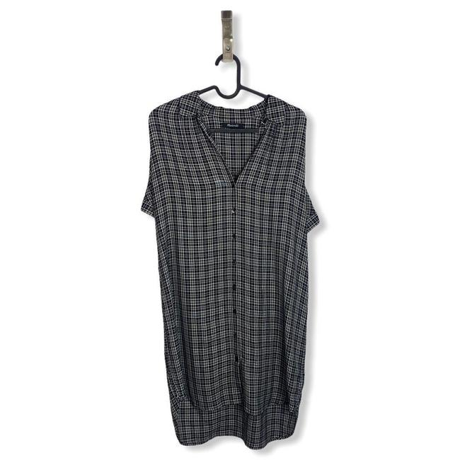 Madewell Black White Central T Button Front Short Casual Dress Size 6 (S) Madewell Black White Central T Button Front Short Casual Dress Size 6 (S) Image 2