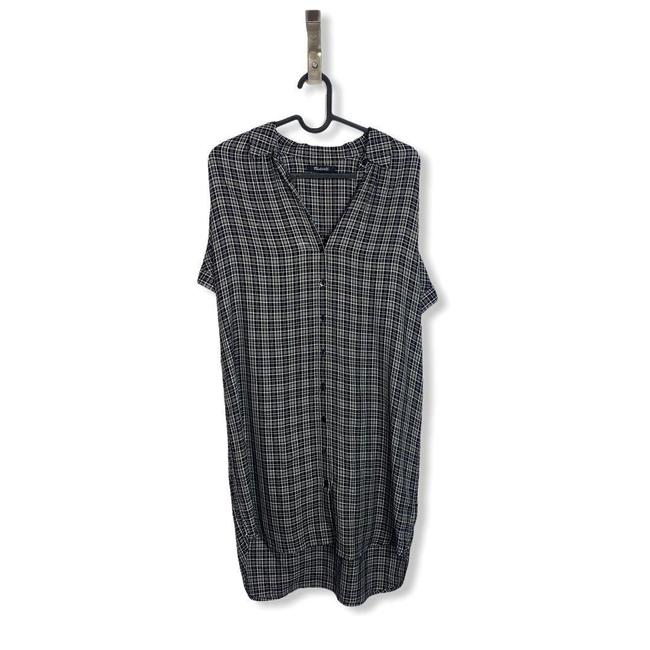 Madewell Black White Central T Button Front Short Casual Dress Size 6 (S) Madewell Black White Central T Button Front Short Casual Dress Size 6 (S) Image 3