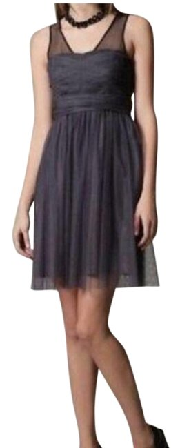 Item - Gray Tulle Short Cocktail Dress Size 0 (XS)