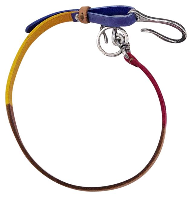 Item - Colorblock Leather Key Chain Jeans Chain