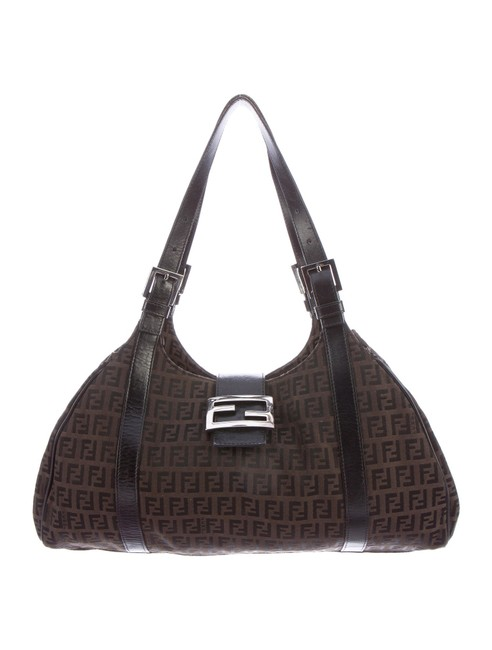 Item - Zucchino Piccola Brown and Tobacco Canvas Leather Shoulder Bag