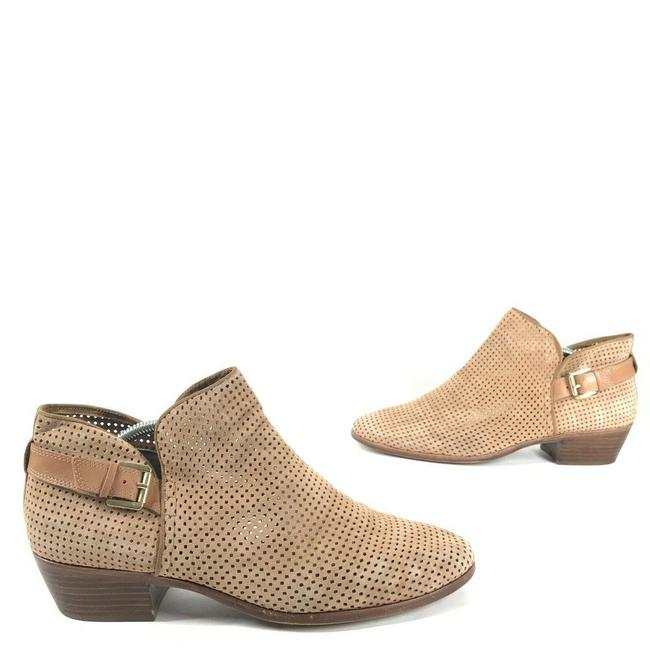 Item - Tan Paula Camel Perforated Leather Chelsea Split Ankle Boots/Booties Size US 12 Regular (M, B)