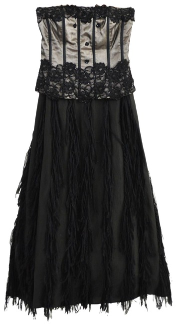 Item - Black/ Nude Corset Ball Gown #195-5 Long Formal Dress Size 0 (XS)