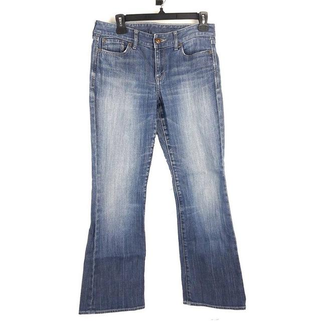 Item - Blue Womens Faded Boot Cut Jeans Size 28 (4, S)