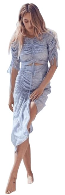 Item - Blue Silver I Feel It Coming Mid-length Casual Maxi Dress Size 6 (S)