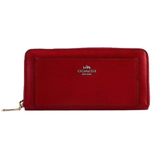 Item - Red Zippy Leather Wallet