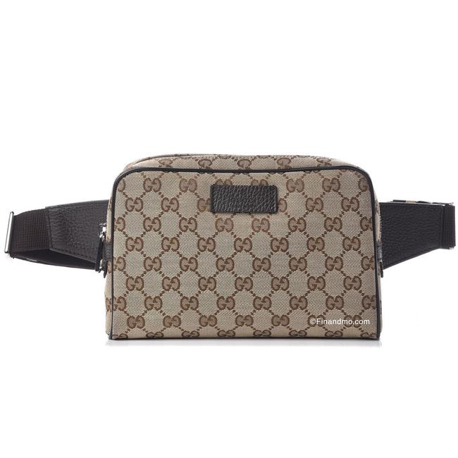 Item - Crossbody Belt New Gg ssima Fanny Pack Waist 449 Beige and Brown Canvas Weekend/Travel Bag