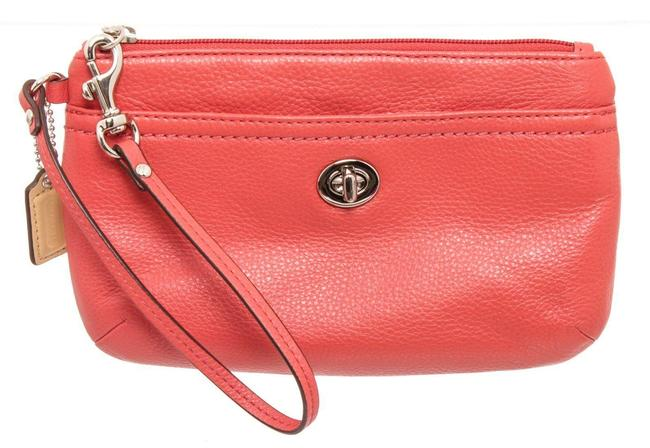 Item - Turnlock Wristlet Pink Leather Clutch